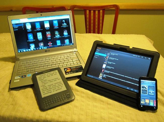 וגם זה ספר: אותו ספר על כל המכשירים: בקינדל, במחשב, בטאבלט, ואפילו בטלפון